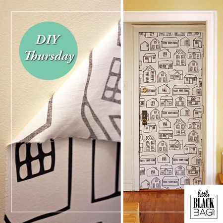 Use a paste of water and cornstarch to make removable wallpaper out of fabric. So easy! #lbbcoza
