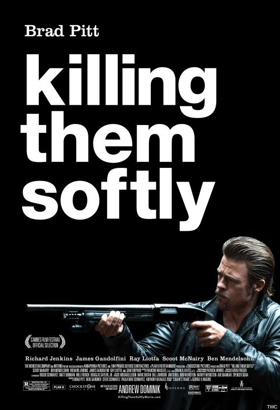 Helvetica hard at work in the new killing them softly poster