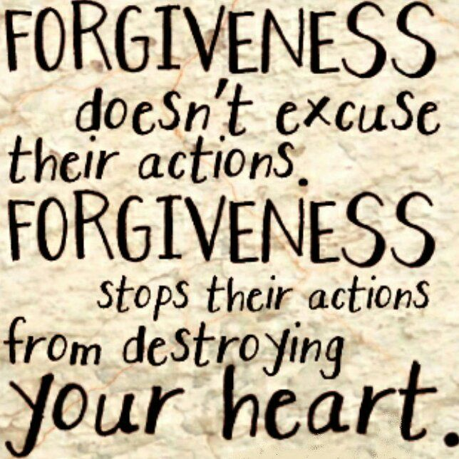 Forgiveness is good for your heart. But forgiveness does not mean reconciliation. It means no longer harboring hard feelings in your heart.