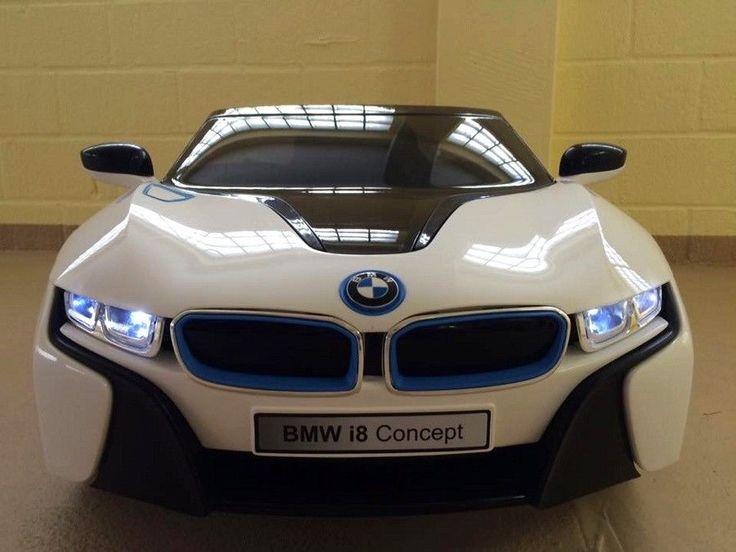 BMW I8 - IVision Kinder Elektroauto Kinderauto Kinderfahrzeug Elektro Auto Weiss