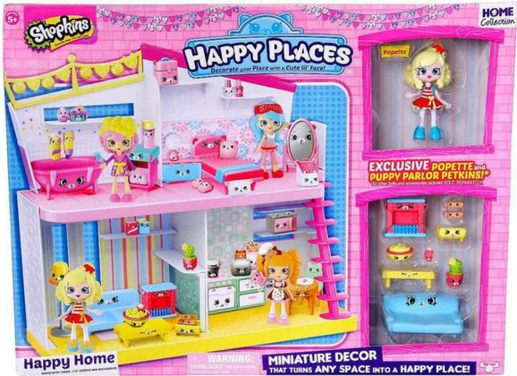 GET READY TO TURN ANY SPACE INTO A HAPPY PLACE WITH SHOPKINS!  Welcome to the Happy House! The Lil' Shoppies house that's alive with fun!  Decorate and display your rooms with cute Petkins furniture. There are so many Petkins with cute little faces to help turn your rooms into cute Happy Places!  Popette loves to follow the latest trends when designing her Puppy Parlour. She's a star when it comes to decorating and creating a lounge to suit her laidback lifestyle!