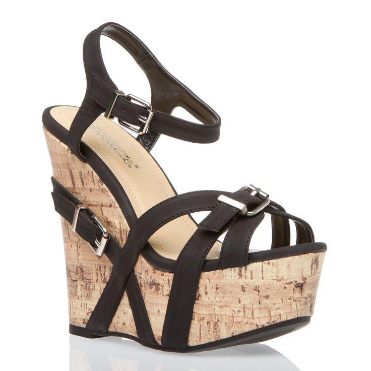 DelyaShoes Dazzle, Summer Shoes, Corks Wedges, Wedge Sandals, Platform Wedge, Shoese Shoese Sho, Black Heels, Wedges Sandals, Black Wedges