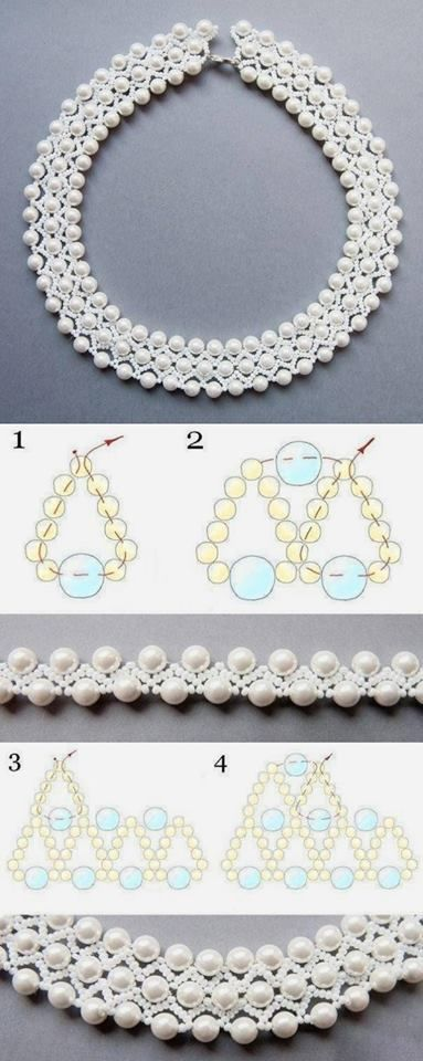 Create a beautiful beaded necklace with your own hands