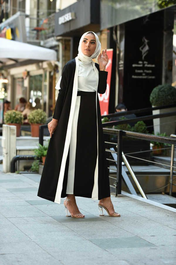 461 3 Parca Tesettur Takim Siyah 2020 Moda Stilleri Moda Hint Modasi