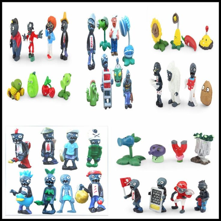 (31.13$)  Watch now  - Free shipping Plants vs Zombies PVC Action Figures PVZ Plant + Zombies Collection Figures Toys Gifts 40pcs/set