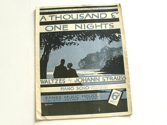 1930s Banks sixpenny edition sheet music booklet A Thousand
