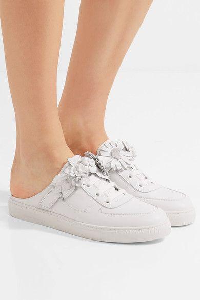 Sophia Webster | Lilico Jessie appliquéd leather sneakers | NET-A-PORTER.COM