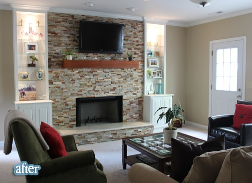 Beautiful Fireplace With Wall Mounted Flat Screen Tv