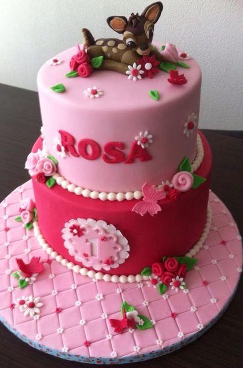 Bambi rose pink cake