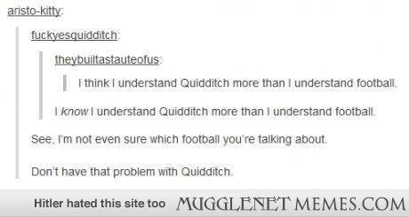Quidditch VS. Football or the other kind of Football....