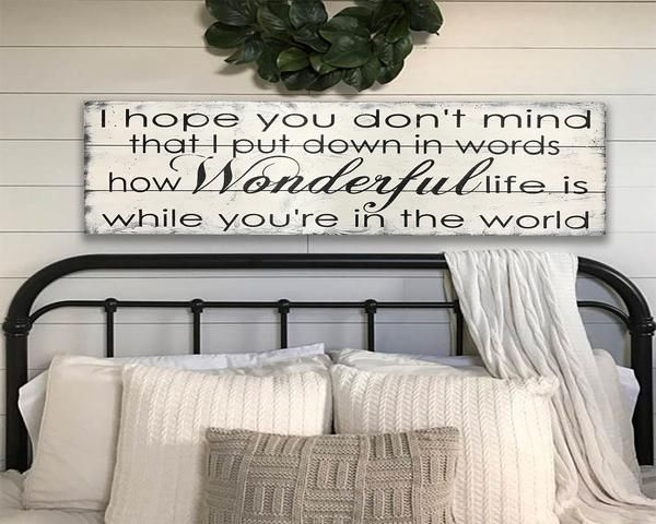 How Wonderful Life Is While You Re In The World Wood Sign In 2020