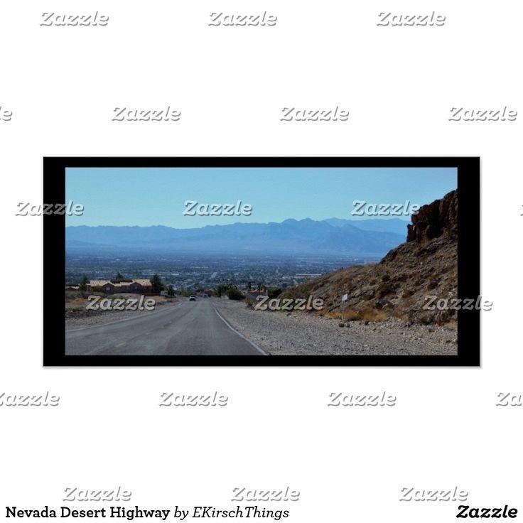 Nevada Desert Highway Poster