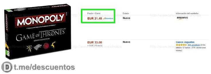 Monopoly Juego de Tronos por sólo 21 - http://ift.tt/2mEhP7j