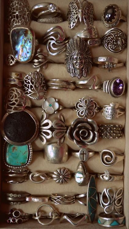 : Boho Rings, Bling, Fashion, Rings Rings, Style, Vintage Rings, Jewelry, Silver Rings