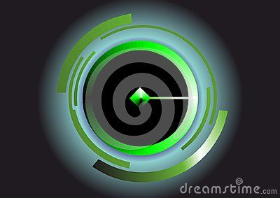 Vector technology background with green diamond.