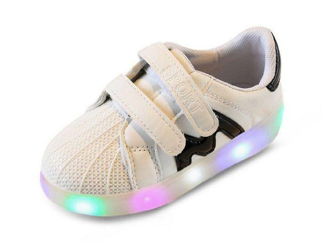 SH073 Sepatu Anak Lampu M Putih Size 26 27 28 29 30 Rp 95.000 (ready)