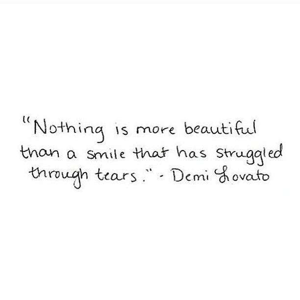 :: Nothing is more beautiful than a smile that has struggled through tears ::