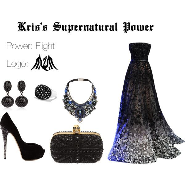 EXO Kris Supernatural Power Inspired Outfit by nanrelladu on Polyvore featuring polyvore fashion style Casadei Alexander McQueen M.C.L by Matthew Campbell Laurenza Ranjana Khan David Yurman Elie Saab