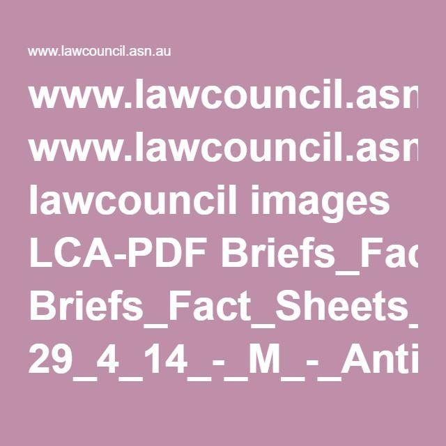 www.lawcouncil.asn.au lawcouncil images LCA-PDF Briefs_Fact_Sheets_and_Publications 29_4_14_-_M_-_Anti-bikie_laws_Briefings_2.pdf