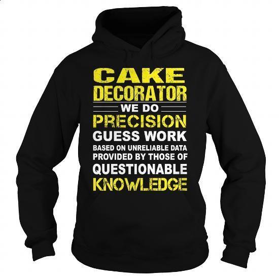 Cake Decorator - #design shirts #tee test. MORE INFO => https://www.sunfrog.com/LifeStyle/Cake-Decorator-94955938-Black-Hoodie.html?60505