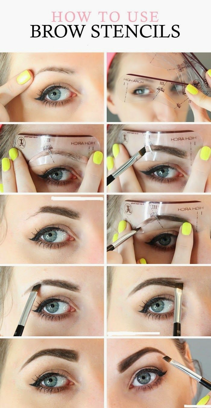 HOW TO USE EYEBROW STENCILS LIKE A PRO! In Midlife brows may be gray or thin. Have you tried stencils?