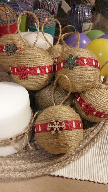 DIY Boules de Noël en Jute
