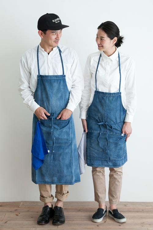 Simply online shop|HARD WASHED DENIM APRON (Short)