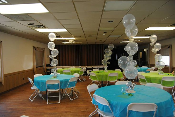 Under The Sea Baby Shower balloon bubble strands. So cute & easy to make.