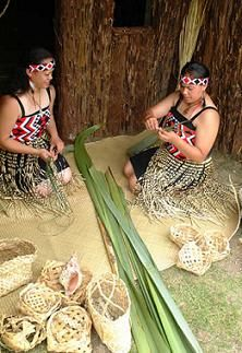 Maori did not have a written language until after the arrival of the missionaries. However, along with the oral histories passed between generations, much of the tribal histories and legends were permanently recorded for all to refer to in the carving and weaving of the various iwi (tribes). Weaving was just as carving a gift from the Gods.