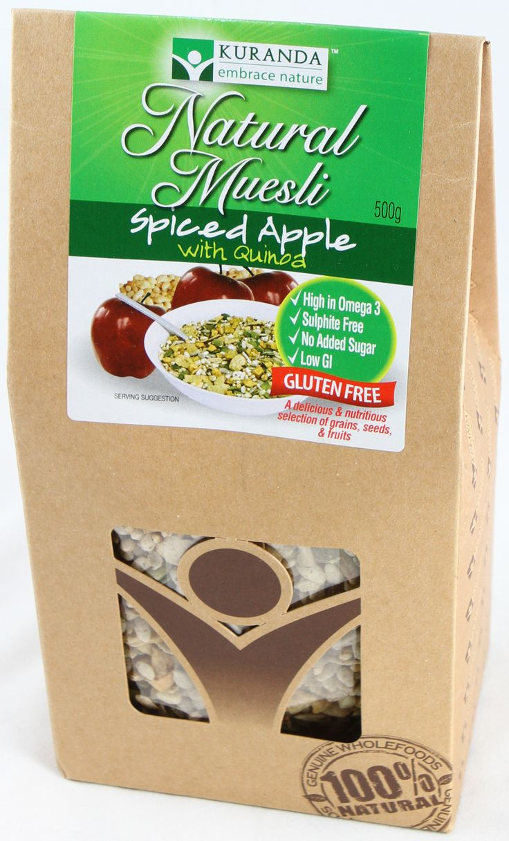 Spiced Apple Muesli (500gm) - Nut Free