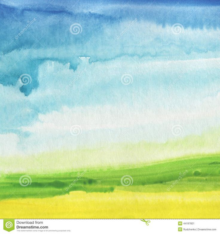 Abstract Watercolor Hand Painted Landscape Background. - Download From Over 53 Million High Quality Stock Photos, Images, Vectors. Sign up for FREE today. Image: 44197821
