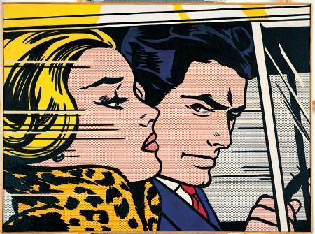 in the car roy lichtenstein art 2 pinterest. Black Bedroom Furniture Sets. Home Design Ideas