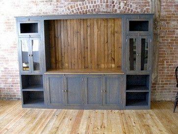 Reclaimed Wood Media Cabinet - industrial - Media Storage - Boston - LakeandMountainHome