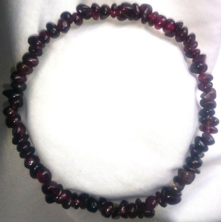 dunkel rote Granat Heilstein Armband Bracelet