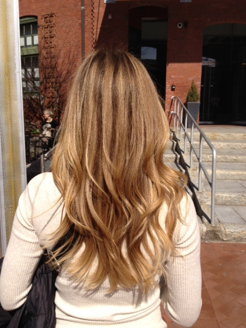 Partial Highlight With Blonde Tips Hair Pinterest