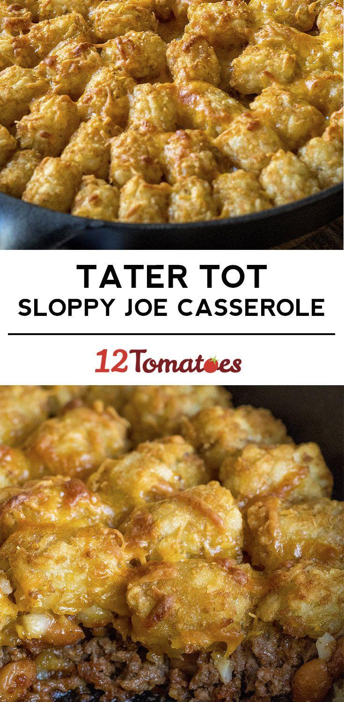 Tater Tot Sloppy Joe Casserole