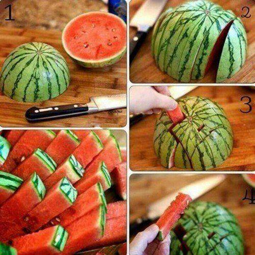 Как удобно разрезать арбуз