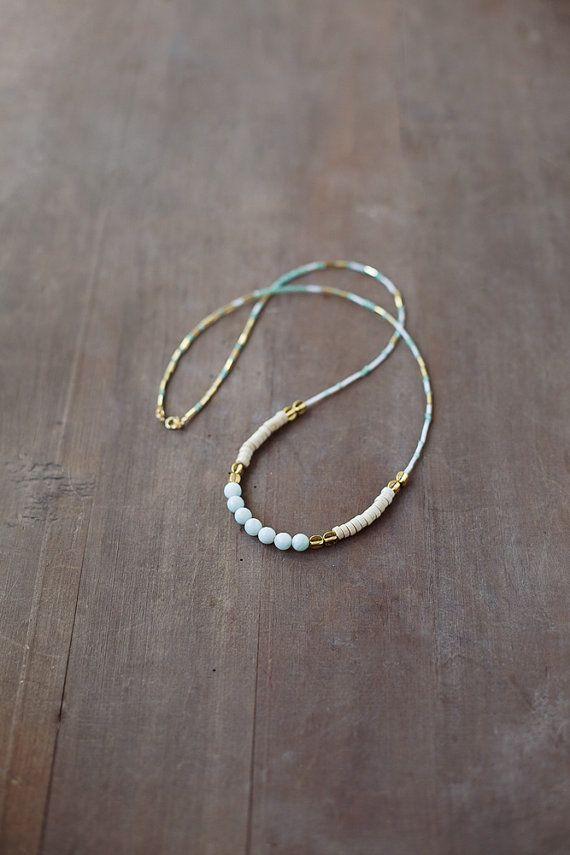 Minze Amazonit Edelstein Halskette