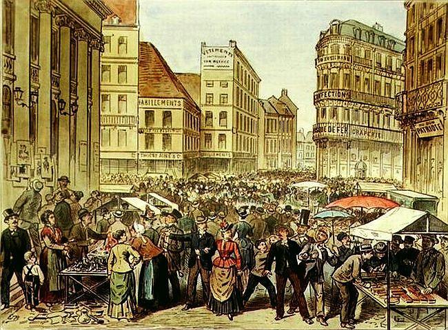 Braderie de Lille en 1885