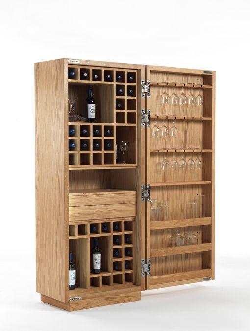 Armario botellero y bodega de vino cambusa proyectos for Barras de bar para casa
