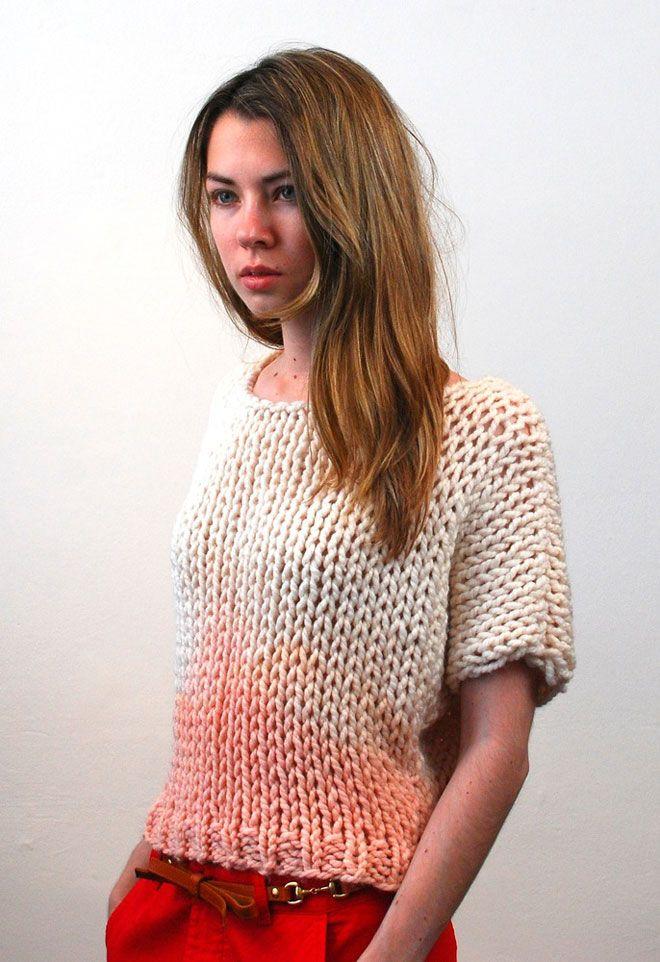 Dip-dyed sweater