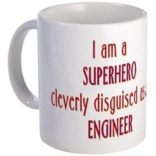 Superhero Engineer Mug for