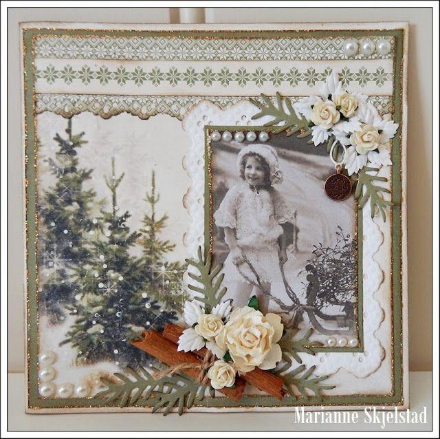 Mariannes papirverden.: Vintage jul - Pion Design