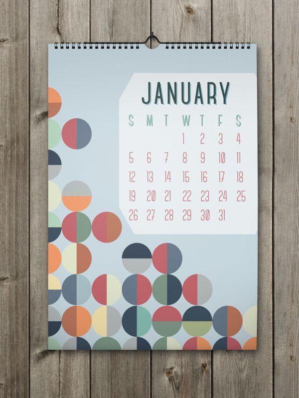 January Inspiring Calendar Design for the New Year: Shapes Calendar 2014