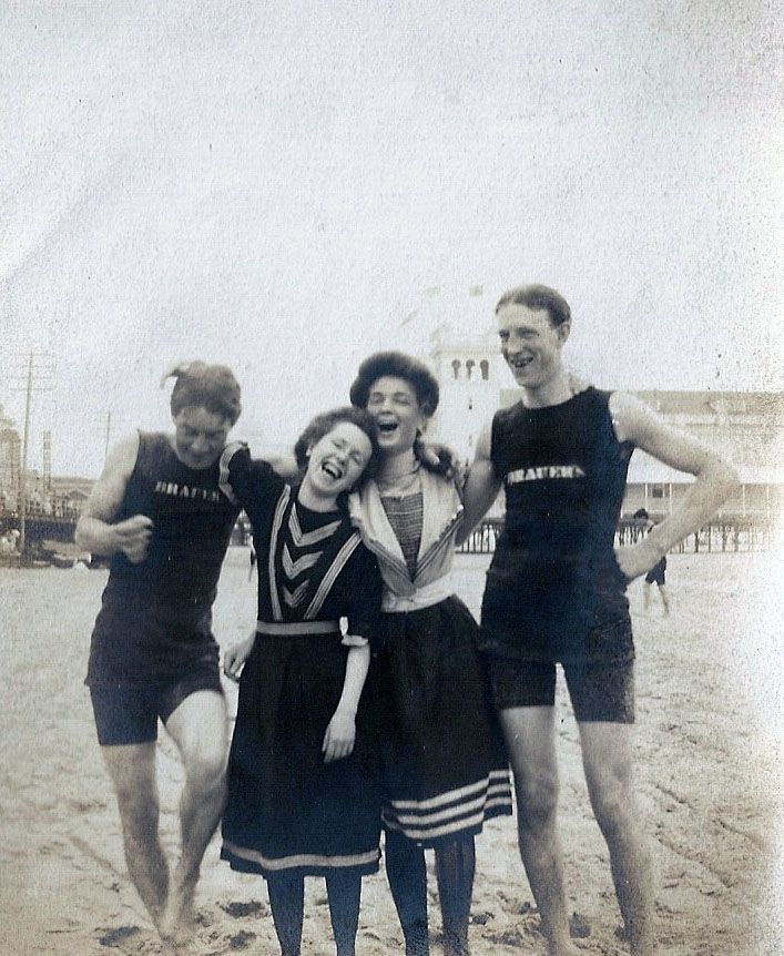 The Smiling Victorians swimwear