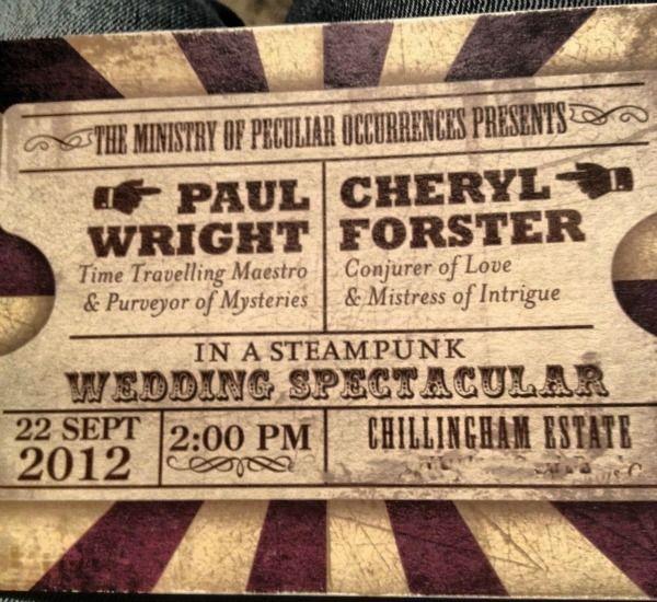 Steampunk Wedding Invitation   Steampunk Invitation