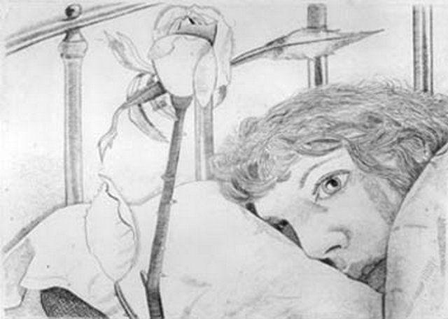 Ill in Paris, Lucian Freud 1948 (33) Kitty Garman