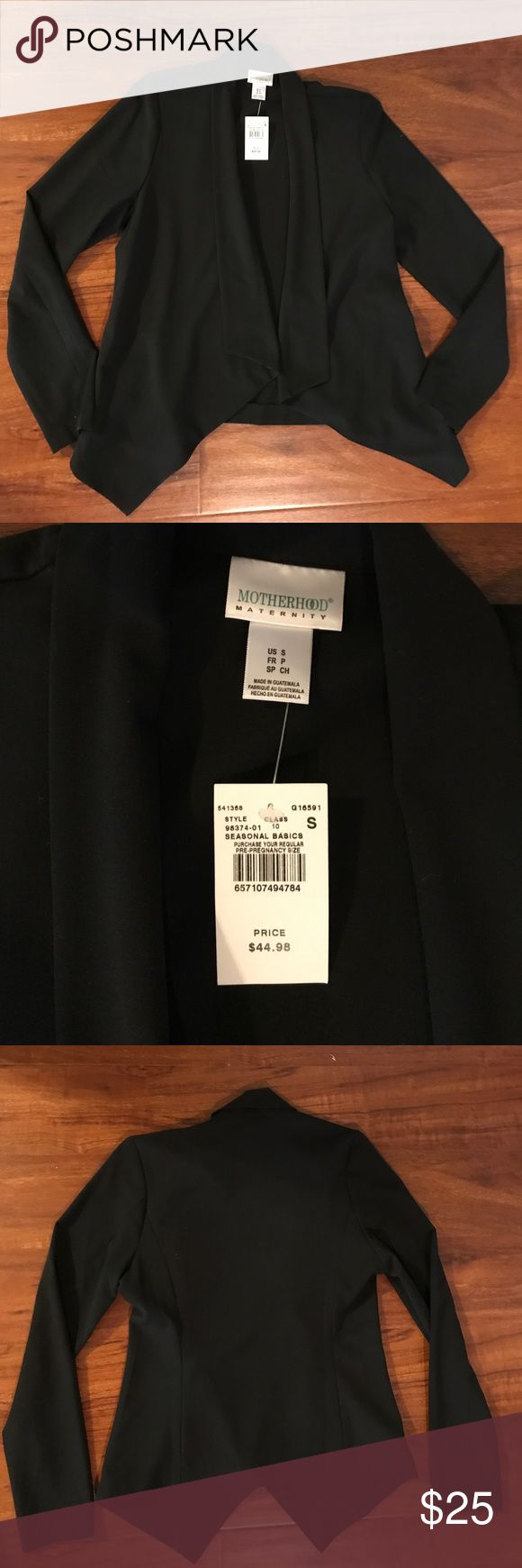 NWT motherhood maternity black work blazer Great black open front blazer. Looks great with jeans, dress pants, and skirts. Perfect for still trying to look professional while pregnant at work. New with tags. Motherhood Maternity Jackets & Coats Blazers