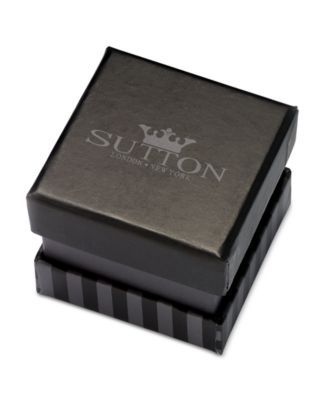 Sutton by Rhona Sutton Men's Stainless Steel Striped Ring - Silver