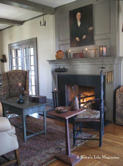 292 best Colonial Fireplaces images on Pinterest | Primitive decor ...